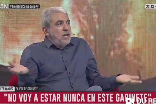 Durante una entrevista de televisión, el ex ministro del kirchnerismo, Aníbal Fernández se autoexcluyó de la posibilidad de integrar el Gabinete de Alberto Fernández