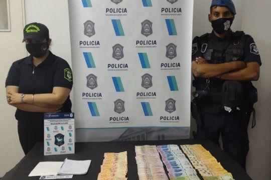 En una persecución secuestraron cocaína, dinero, celulares y un cuaderno