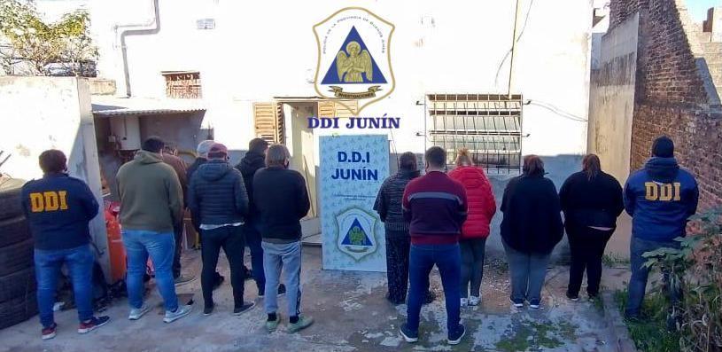 Los detenidos por el procedimiento de juego clandestino en Chacabuco