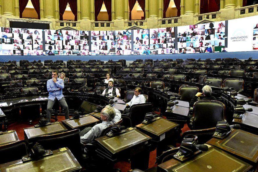Sesiones virtuales. El Congreso debió adaptarse para mantener el proceso legislativo en el marco de la pandemia. Pudo hacerlo.