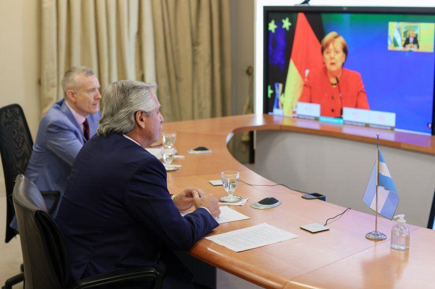 Alberto Fernández ya mantuvo encuentros con Ángela Merkel