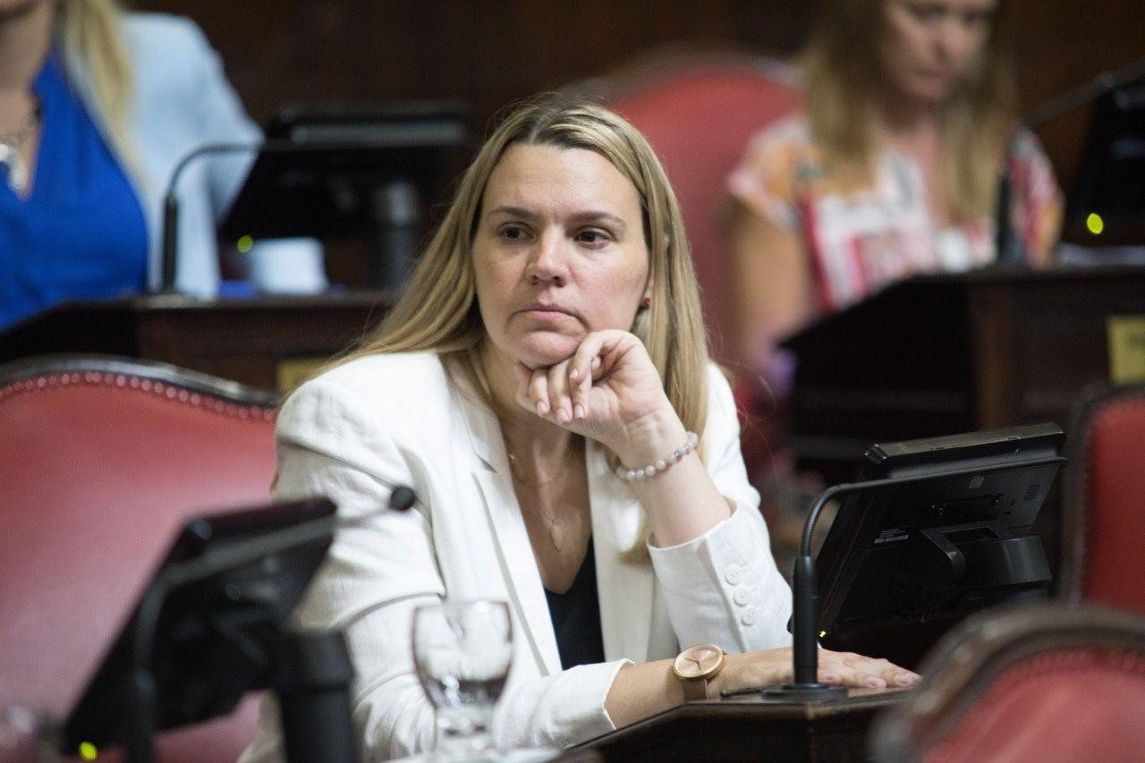 La senadora bonaerense denunciada, Lorena Petrovich