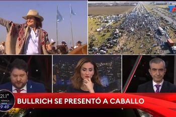 Wiñazki se emocionó por la cabalgata de Patricia Bullrich