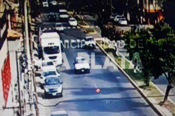El accidente fue en 7 y 79 en el barrio de Villa Elvira