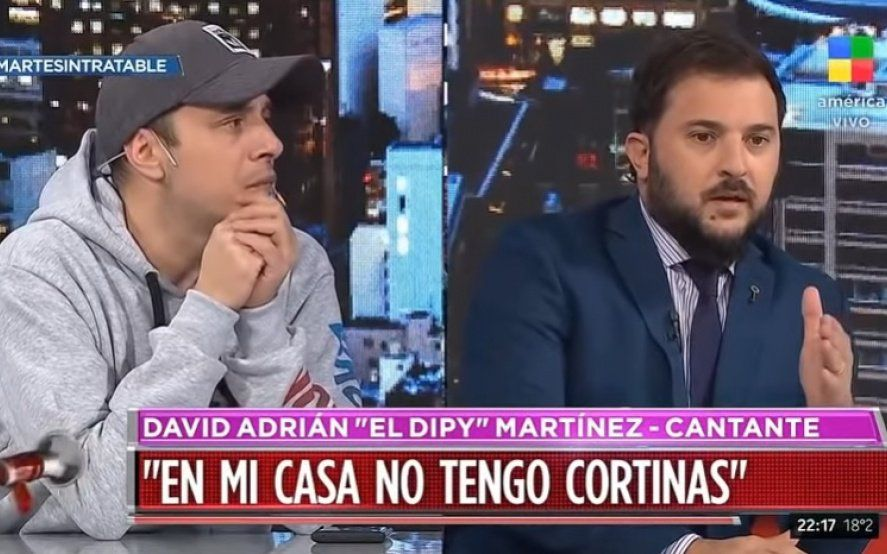 Video: el fuerte cruce en vivo entre el Dipy y Brancatelli