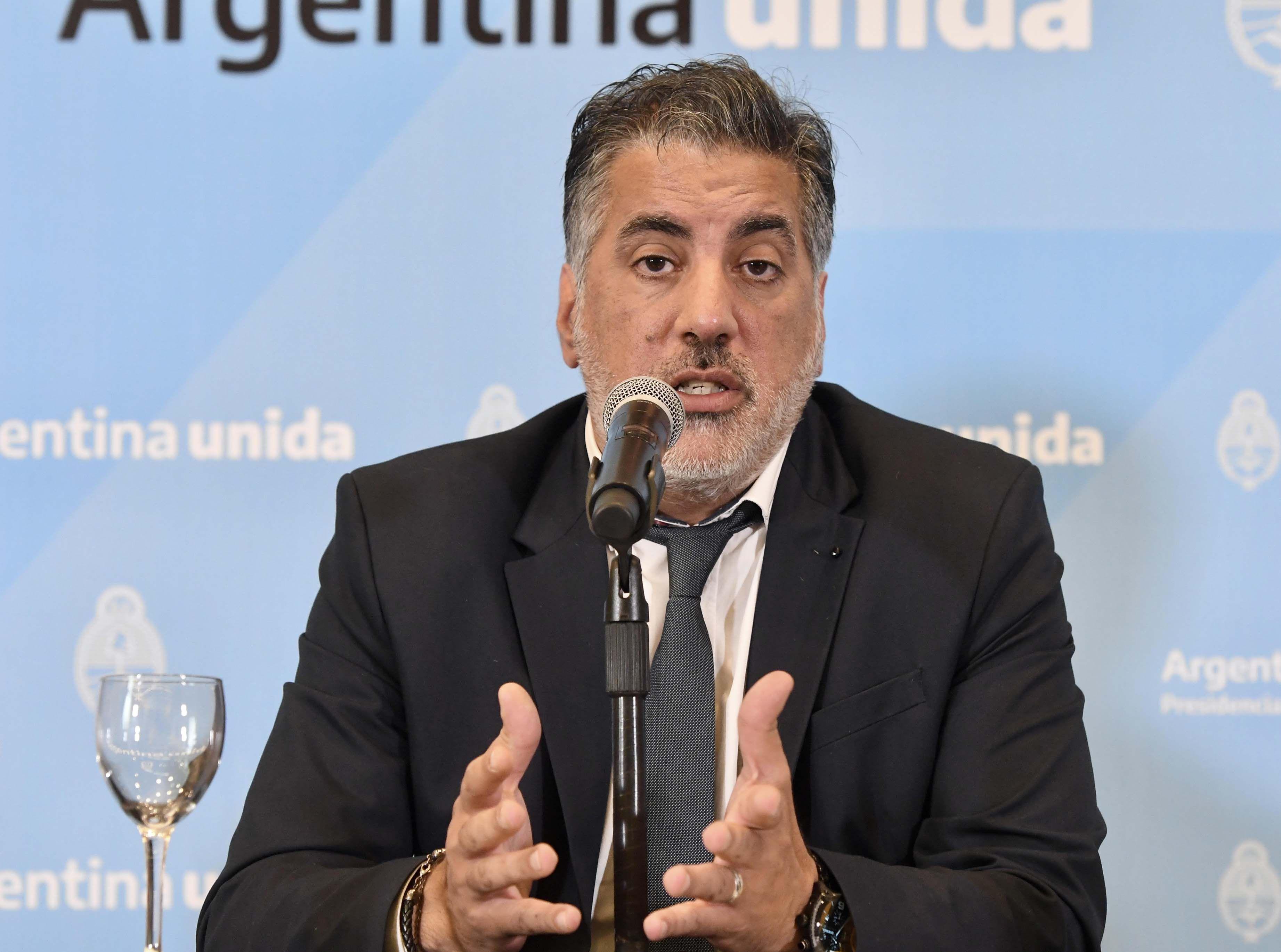 El saliente secretario de Medios y Comunicación Pública, Francisco Maritello