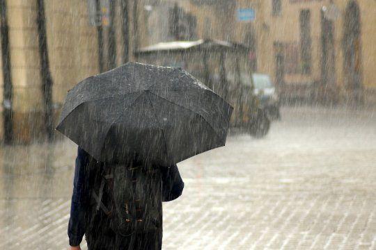 se viene el agua: hay alerta meteorologico para la provincia