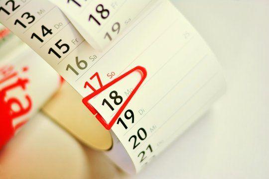 Habrá que esperar más de un mes para el próximo fin de semana largo