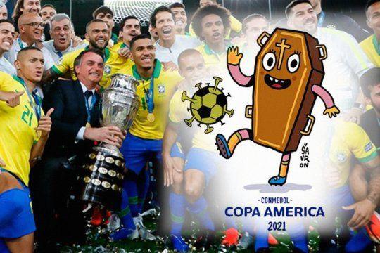 Bolsonaro no puede garantizar la Copa América en Brasil, mientras tanto los memes de la Cepa América se multiplican en su país.
