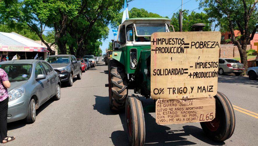 Tractorazo y comunicado del campo dirigido a Alberto Fernández