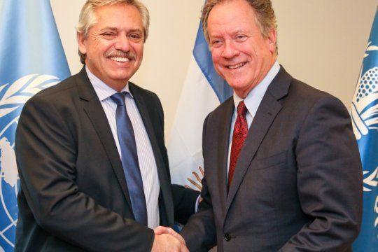 fernandez le presento ?argentina contra el hambre? al director del programa mundial de alimentos de la onu