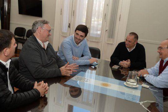 Joaquín de la Torre, Ezequiel Galli y Alejandro Cellillo reunidos en la séptima, en 2017. Esta vez se rompe la unidad e irán a las elecciones PASO con listas separadas.