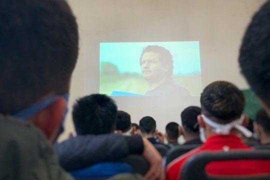 Del cine debate participaron 30 presos de la cárcel de Olmos