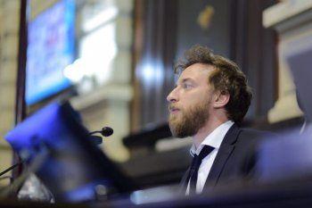 El presidente de la Cámara de Diputados bonaerense, Federico Otermín.