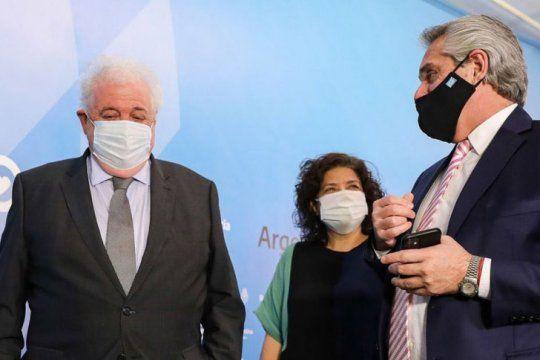 Alberto Fernández se apliaría la vacuna la semana que viene junto a Ginés González García.