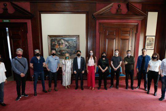 Actores y actrices se reunieron con Kicillof