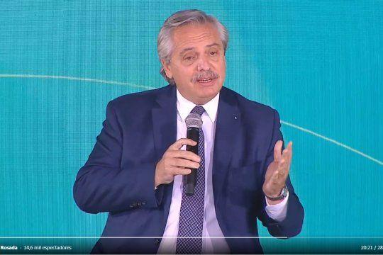 Alberto Fernández lanzó acuerdo de la industria de contenido