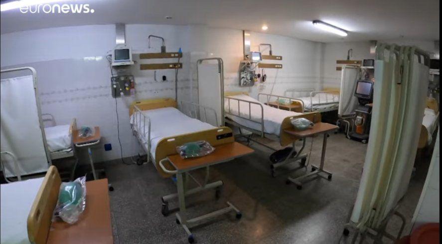 Las camas de terapia Intensiva vacías fue el eje de un informe de Euronews sobre la situación de las Clínicas privadas en Buenos Aires y el Área Metropolitana