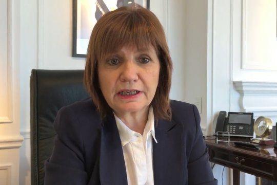 Bullrich habló de sustitución de Gobierno para un año sin elecciones presidenciales.
