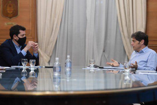 de pedro y kicillof acordaron asistencia financiera para la provincia