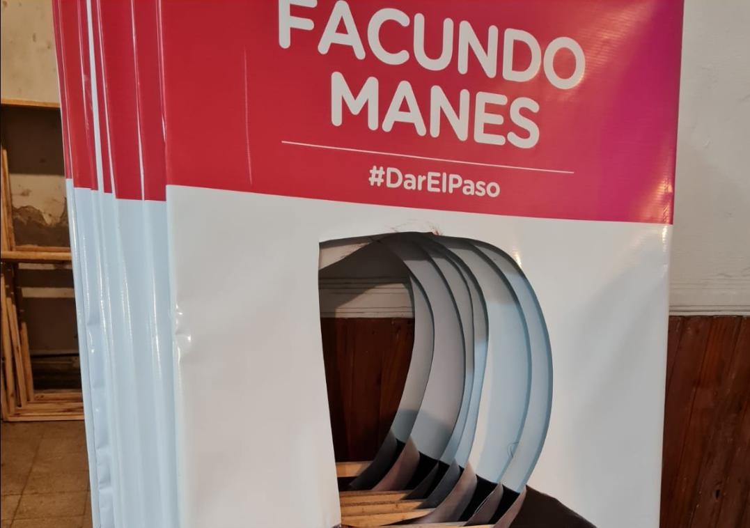 Afiches de campaña de Facundo Manes, vandalizados en La Plata