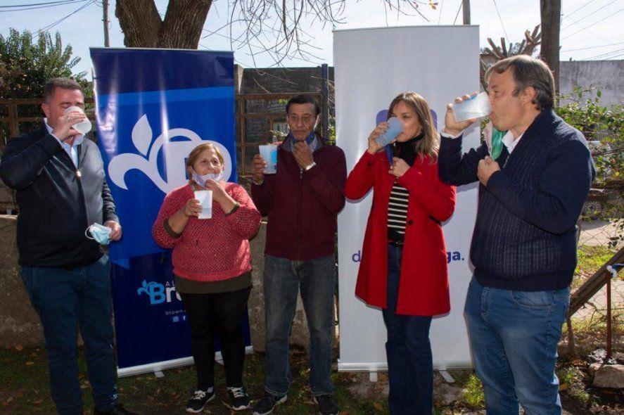 Almirante Brown: habilitaron una nueva red de agua potable