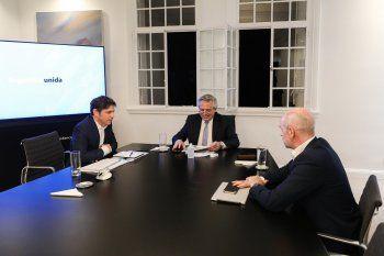 Alberto Fernández junto a Kicillof y Rodíguez Larreta tras la tensión por la coparticipación