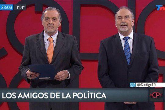 Eduardo Van der Kooy (izquierda), junto al recordado Julio Blank, ambos importantes redactores jefes de Clarín con sincericidios como el Periodismo de Guerra o el Problema es el Gobierno