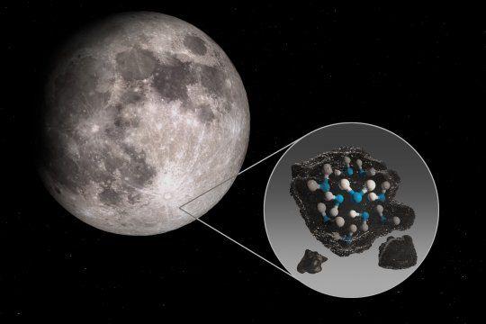 El descubrimiento indica que el agua en la Luna no se limita a lugares fríos y sombreados (Foto: @SOFIAtelescope)