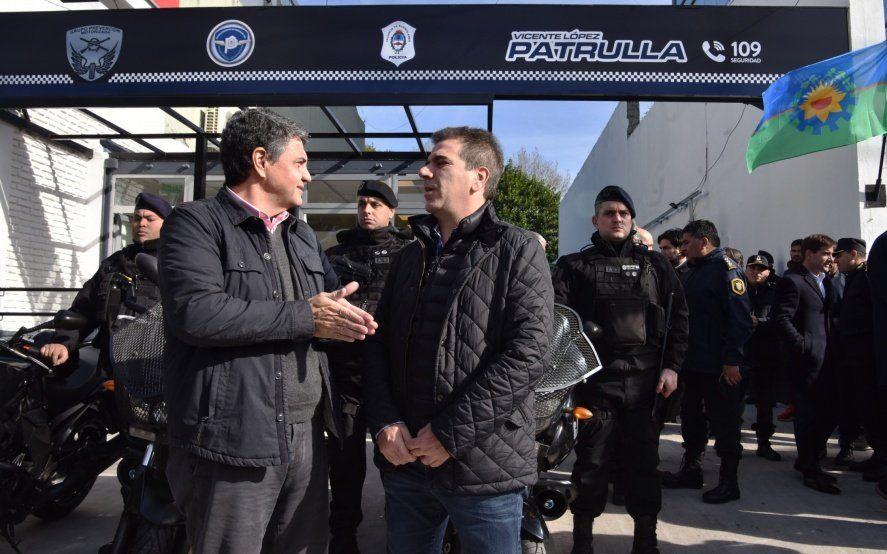 Ritondo y Jorge Macri juntos en nuevas instalaciones del Grupo de Prevención Motorizada
