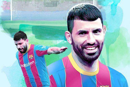 El Kun con la de Barcelona: su llegada acercaría a la continuidad de Messi.