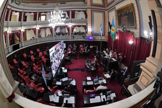 Una de las escenas recurrentes en la Legislatura bonaerense