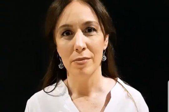 Captura de pantalla del video de TikTok de María Eugenia Vidal utilizado por TN para ya lanzarla como candidata a Presidenta