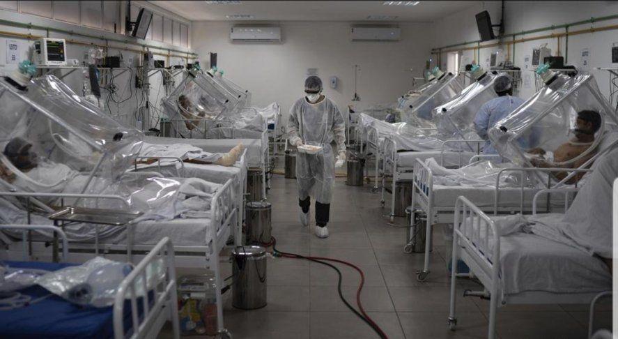 Falta de respiradores en las terapias intensivas de Manaos la Capital de Amazonas en Brasil