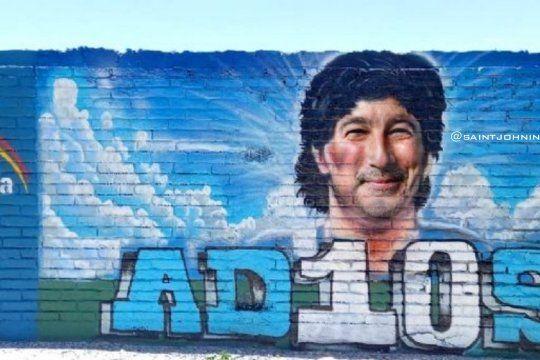 El mural sanjuanino se volvió viral en las redes sociales
