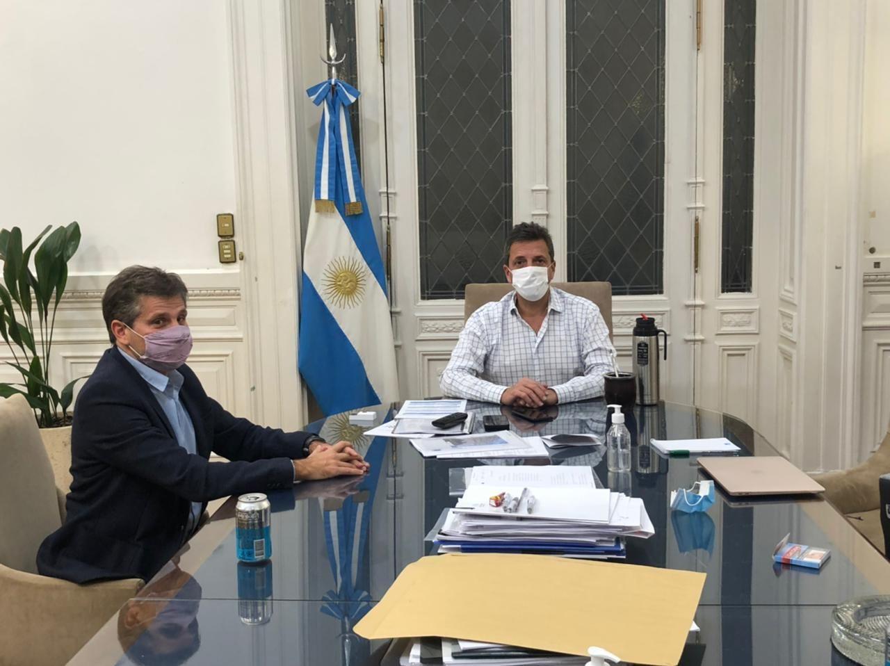 Sergio Massa con Ariel Ciano
