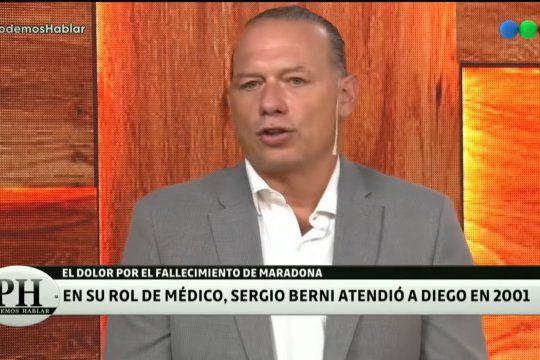 sergio berni revelo que maradona fue su paciente en 2001: le detectamos los primeros sintomas de una miocardiopatia dilata