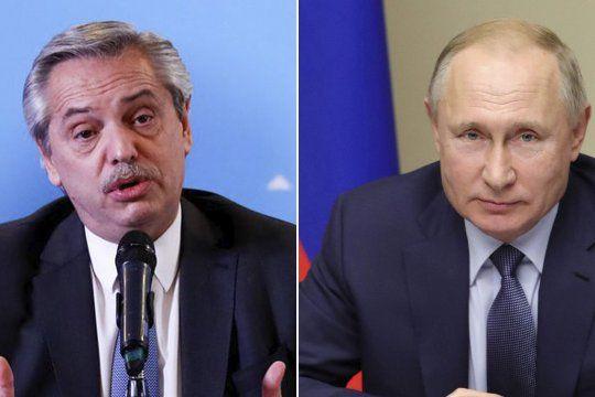 Alberto Fernández le agradeció a su par, Vladimir Putin, y le solicitó la necesidad de seguir contando con las vacunas