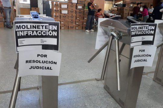 crisis edilicia: la justicia ordeno a las autoridades de ioma que frenen la instalacion de molinetes
