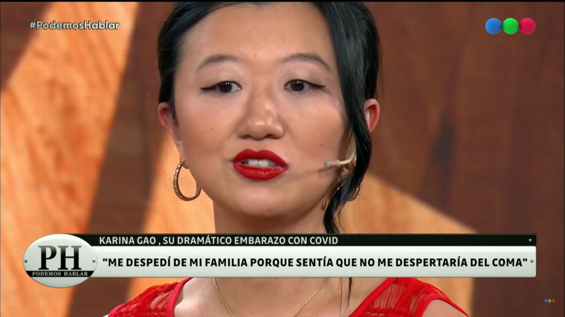 karina gao hablo sobre su dramatica internacion por coronavirus: me despedi de mi marido y grabe un video para mis hijos
