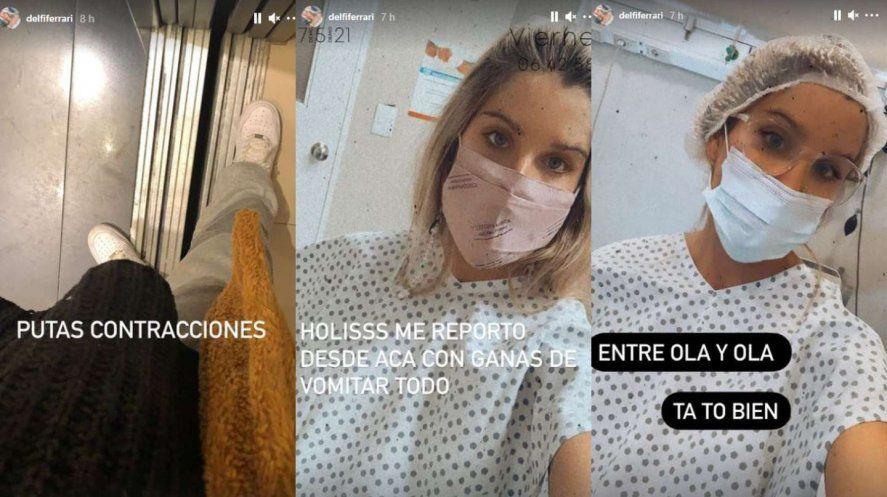 Delfi Ferrari compartió los minutos previos al parto