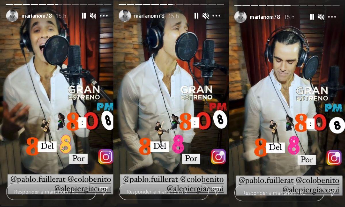 Mariano Martínez lanzará un nuevo cover este fin de semana (Foto: captura de pantalla Instagram)
