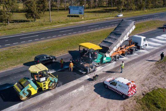 por obras de repavimentacion en la ruta 2, hay reduccion de calzada camino a la costa atlantica