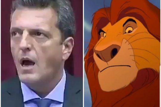 Sergio Massa y El Rey León protagonistas del video viral en el recinto de la Cámara de Diputados