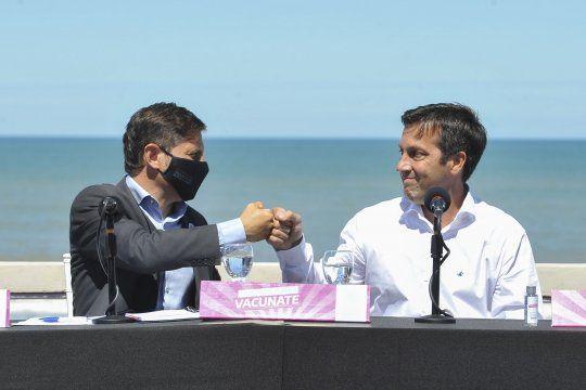 Arturo Rojas bancó fuerte a Kicillof durante su visita a Necochea.