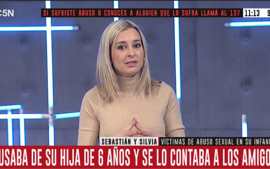 """Una periodista de C5N contó en vivo: """"Yo fui víctima de abuso a los 10 años"""""""