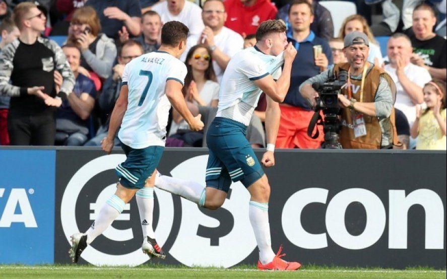 El Sub 20 de Argentina bajó al campeón de Europa y está en octavos