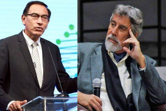 A la izquierda el ex Presidente Martín Vizcarra a la derecha el interino Francisco Sagasti