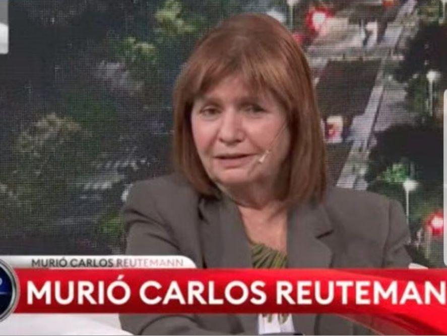 Patricia Bullrich, habitual invitada a TN, estaba allí y envió condolencias por la falsa noticia dada por ese medio de la muerte de Carlos Reutemann