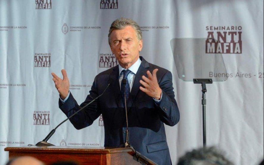 Macri: No hay que comprarse el cuento de que contra las mafias no se puede